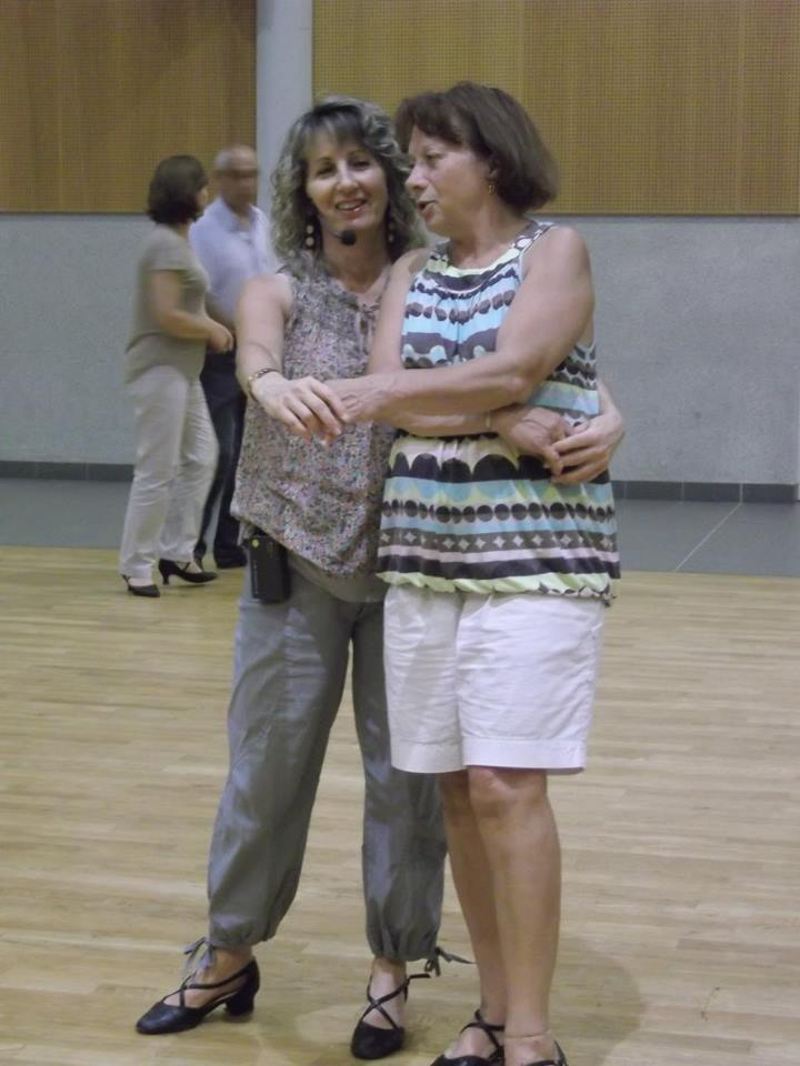 Valérie Rossi avec une élève